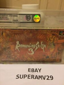 Romancing Saga 3 SUPER FAMICOM JAPAN RELEASE 1995 VGA GRADED 95 ARCHIVAL CASE