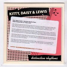 (FY855) Kitty, Daisy & Lewis, No Action - 2015 DJ CD