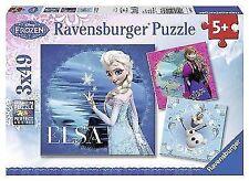 Disney Frozen Ravensburger 3 X 49 PC Jigsaw Puzzles Mini Poster Kids Gift