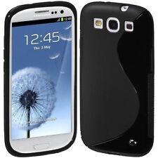 SGS III GRIP S-LINE SOFT SILICONE GEL BLACK CASE for Samsung i9300 Galaxy S3