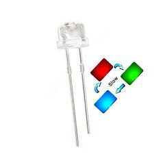 50pcs 5mm Straw Hat Rgb Red Green Blue Light Emitting Led Lamp Slow Flashing New