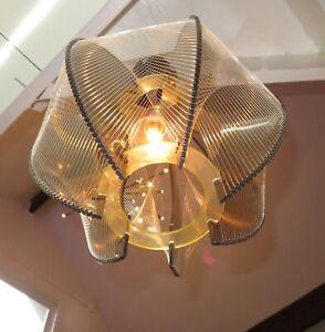 Vintage String & Lucite Light MCM Disco Era Light Swag Lamp Paul Secon 1970's