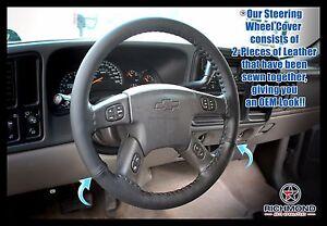 2002 2003 2004 GMC Envoy XUV SLT SLE -Leather Wrap Steering Wheel Cover, Black
