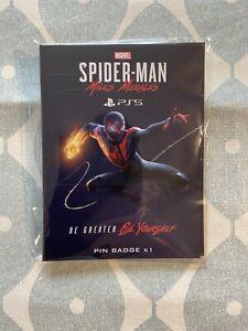 Marvel Spider-man Miles Morales PS5 Pin badge *Rare* New & Sealed