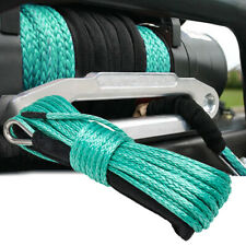 "Synthetic Winch Rope Line Cable 1/4"" x 50' 10000LB Capacity ATV UTV Pickup Green"
