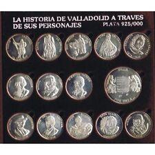 ESPAÑA 13 ARRAS MEDALLAS DE PLATA HISTORIA DE VALLADOLID Y SUS PERSONAJES
