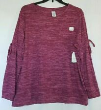 Time And Tru Maternity Long Sleeve Sweater Pink/Purple Heather