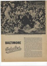 1960 Baltimore Orioles Major League Baseball Magazine 2 Full Pages Print Ad