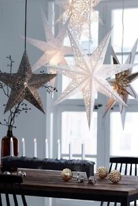 Large LED Decorative Festive Paper Star Hanging Christmas Lantern Xmas Lights
