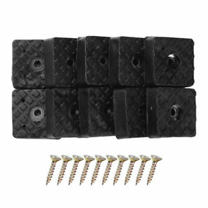 10Pc Rubber Non-Slip Furniture Feet Pads Table Chair Bed Floor Protecter w/Screw