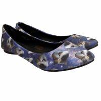 TUK Kitty Cat Galaxy Size 8 Shoes Ballet Flats Slip On Womens