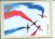 GB - PHQ CARDS -2008 - AIR DISPLAYS  - BACK - FDI/SHS - COMP. SET USED
