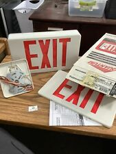 Lithonia Lighting Thermoplastic Led Emergency Exit Signs With Red Letters