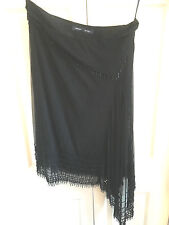 French Connection Uneven Hem Black Skirt 10