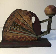 Antique Vintage Egg Scale Metal Red Kitchen Decor Eggs Weight Weigh