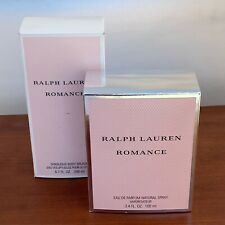 ROMANCE by Ralph Lauren Eau De Parfum Spray 3.4 oz Plus Body Splash Brand New