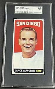 1965 Topps Football Lance Alworth #155 SGC 40 VG