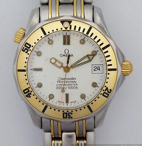 18k Gold SS Omega Seamaster Mens Unisex Automatic Chronometre Watch Booklets