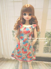 Doll dress ~ Obitsu 27cm/Pullip#3/Momoko Pretty Flower print dress 1PCS NEW