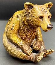 🦋 MINT Jay Strongwater BEAR Figurine W/ BOX