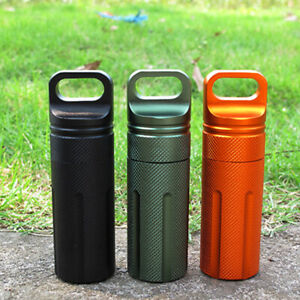 1PC Aluminum EDC Survival Kit Waterproof Seal Bottle Capsule Storage Container