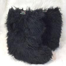 Pajar Black LARA Goat Fur & Shearing Lining Yeti Boots Made in Italy Sz. 38