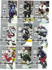 2005-06 Fleer Hot Prospects 100 card set Lindros Lemieux Fedorov Kariya Roenick