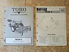 TORO TROJAN II RIDE ON ROTARY MOWER OWNERS MANUAL & PARTS CATALOG