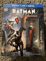 Batman & Harley Quinn Blu-ray/DVD+ Graphic Novel & Figure Best Buy Exclusive NEW