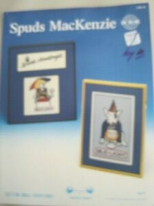 Spuds Mackenzie 1987 Counted Cross Stitch Pattern 3 Patterns NEW
