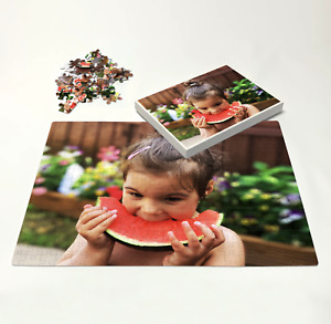 Personalised Jigsaw Puzzle A6 - A3 in Box 12 -300 Pieces Photo Print Custom Gift