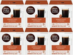 96 Pods Nescafe Dolce Gusto Coffee Capsules Americano Intenso BEST BY 3/2021