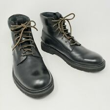 Frye Terra Lace Up 81322 Black Leather Casual Dress Boots Shoes Mens 8.5 New