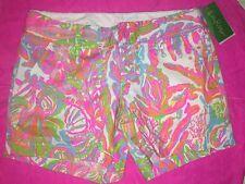 NEW Lilly Pulitzer *Scuba To Cuba* Callahan Shorts Size 2 Undersea Fish &Coral G