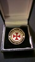 Knights Templar Crusader pin badges lapel, tie, enamel KT Masonic Brotherhood