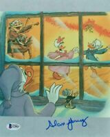 ALAN YOUNG SIGNED AUTOGRAPHED 8x10 PHOTO VOICE SCROOGE MCDUCK DISNEY BECKETT BAS