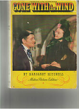 GONE WITH THE WIND BOOK MOTION PICTURE EDITION CLARK GABLE LEIGH HAVILLAND OOP