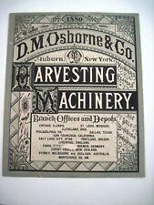 1880 Advertising Print for