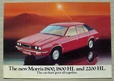 MORRIS 1800, 1800HL & 2200HL Car Sales Brochure Jan 1975 #3135