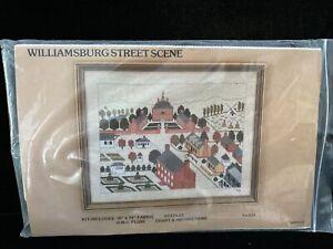 Vintage Williamsburg Street Scene Counted Cross Stitch KIT