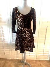 ANGIE DRESS ANIMAL PRINT SIZE S (JUNIORS) LONG SLEEVE AWESOME