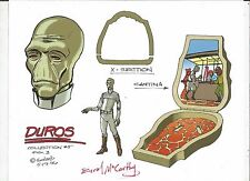STAR WARS Duros +Cantina GALOOB X-Section Micro Machines Color Guide E. McCarthy