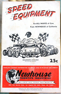 Vtg Newhouse Automotive Speed Shop Catalog 1951-1952 Hot Rod Drag Race Custom