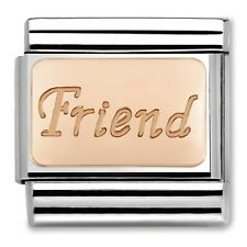 Genuine NOMINATION Classic Rose Gold Friend Charm 430108/14 RRP £18.00