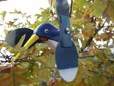 Blue Hummingbird Mini Whirligigs Whirligig Windmill Yard Art Hand made from wood