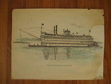 Belle of Louisville Kentucky steamboat by Paul Blackwell SIGNED PRINT boat KY