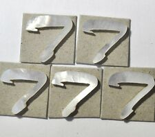 5 Capitalize T in White Mother of Pearl 13.2mmx 13.5mm x 1.5mm thickness