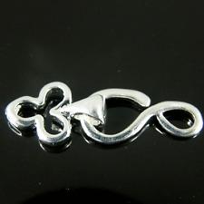Hook & Eye Club Shape Silver Plated jewellery making Finding Clasp x 10 Set K347