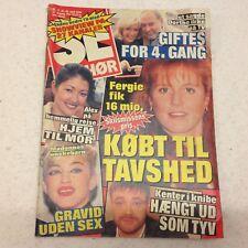 """Madonna Pregnancy Front Cover Photos Vintage Danish Magazine 1996 """"Se og Hoer"""""""