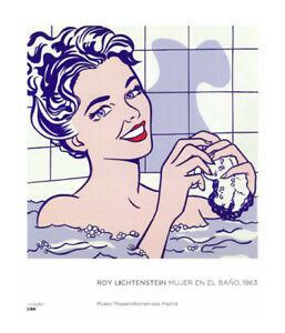 Roy Lichtenstein. Mujer en el baño, 1963. 64 x 69 cm